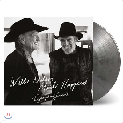 Willie Nelson & Merle Haggard (윌리 넬슨 & 멀 해거드) - Django and Jimmie [블랙 & 실버 마블 컬러 2LP]