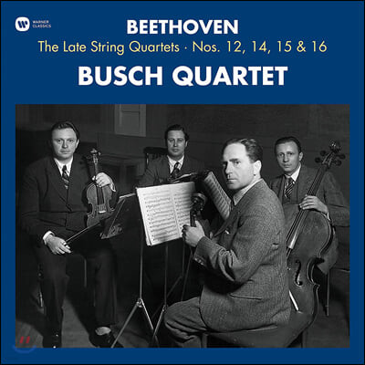 Busch Quartet 베토벤: 후기 현악 4중주 - 부슈 사중주단 (Beethoven: String Quartets Nos.12, 14, 15, 16) [3LP]