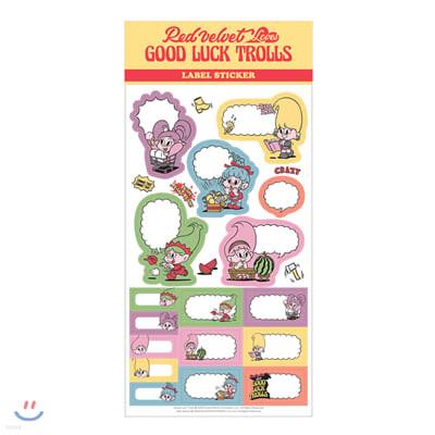 레드벨벳(Red Velvet Loves GOOD LUCK TROLLS) - LABEL STICKER