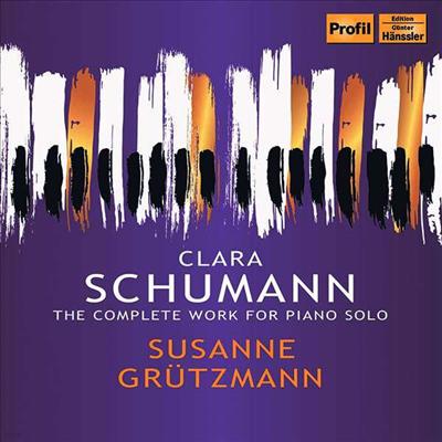 클라라 슈만: 피아노 작품 전곡 (Clara Schumann: Complete Piano Works) (4CD) - Susanne Grutzmann