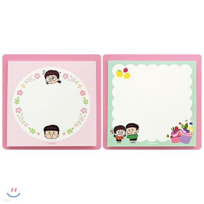 흔한남매 모양스티키3(핑크/민트)(랜덤발송)