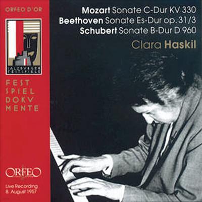 모차르트 : 피아노 소나타 10번, 베토벤 : 피아노 소나타 18번, 슈베르트 : 피아노 소나타 D.960 (Beethoven, Mozart, Schubert : Piano Sonatas) - Clara Haskil