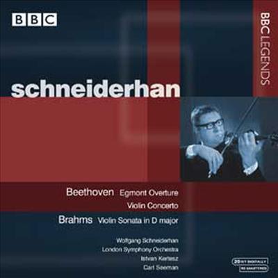 베토벤 : 바이올린 협주곡, 에그몬트 서곡, 브람스 : 바이올린 소나타 3번 (Beethoven : Violin Concerto Op.61, Egmont Overture Op..83, Brahms : Violin Sonata Op.108) - Wolfgang Schneiderhan
