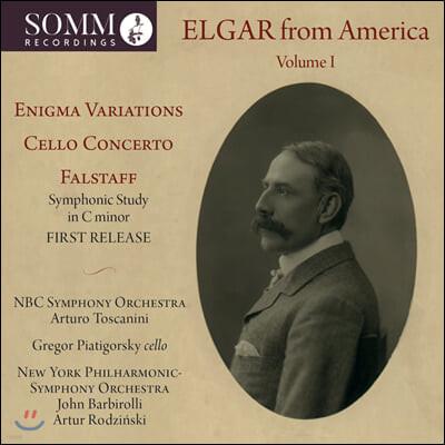 미국에서의 역사적 엘가 녹음 1집 (Elgar from America, Vol. 1)