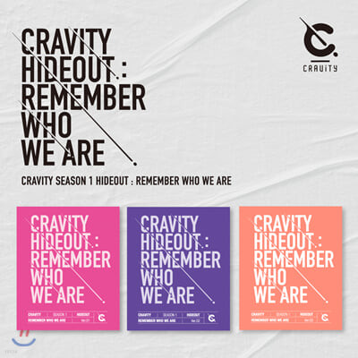 CRAVITY (크래비티) - CRAVITY SEASON1. [HIDEOUT : REMEMBER WHO WE ARE] [3종 중 랜덤 1종 발송]