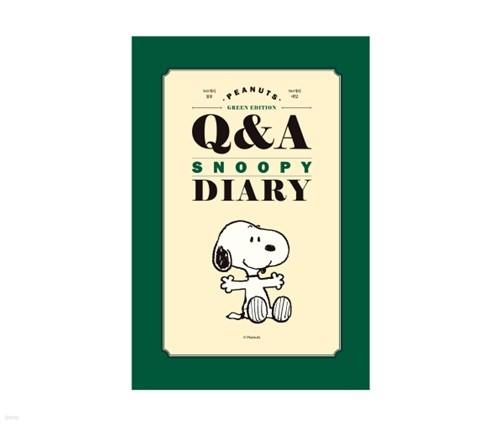 스누피 피너츠 Q&A 다이어리 (그린)