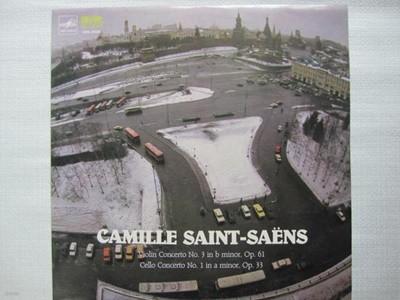 LP(엘피 레코드) 생 상스: 바이올린 협주곡 3번, 첼로 협주곡 1번 - 베즈베르흐니 / 호미제르