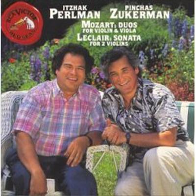 모차르트 : 듀오 1, 2, 르클레르 : 소나타 4번 (Mozart : Duo No.1 K.423 & Duo No.2 K.424, Leclair : Sonata Op.3 No.4) - Itzhak Perlman