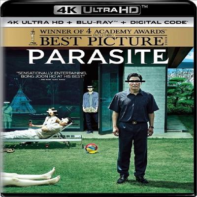Parasite (기생충) (2020 미국 아카데미 수상작)(봉준호 감독 작품)(4K Ultra HD+Blu-ray)(한글무자막)