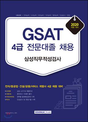 2020 GSAT 삼성직무적성검사 4급 전문대졸 채용