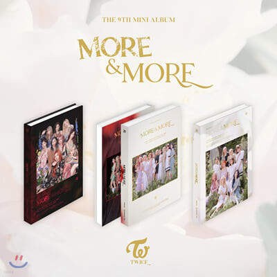 트와이스 (TWICE) - 미니앨범 9집 : MORE & MORE [A,B,C 버전 중 1종 랜덤 발송]
