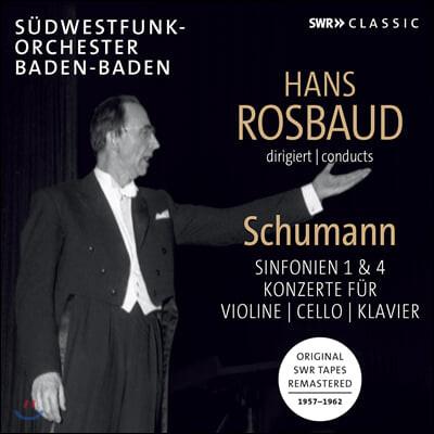 Hans Rosbaud 슈만: 교향곡 1, 4번, 협주곡집 (Schumann: Symphony Op. 38, 120 and Concertos)