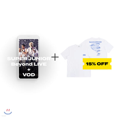 SUPER JUNIOR Beyond LIVE +VOD관람권 + Beyond the SUPER SHOW 티셔츠