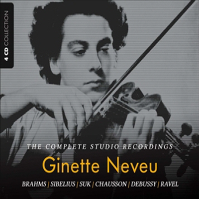 지네트 느뵈 - 전설의 스튜디오 레코딩 (Ginette Neveu - Complete Studio Recordings) (4CD Set) - Ginette Neveu