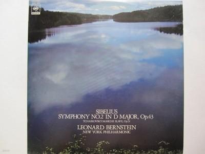 LP(수입) 시벨리우스: 교향곡 2번, 슬라브 행진곡 - 번스타인 / 뉴욕 필