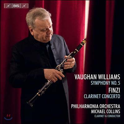 Michael Collins 본 윌리엄스: 교향곡 5번 / 제랄드 핀지: 클라리넷 협주곡