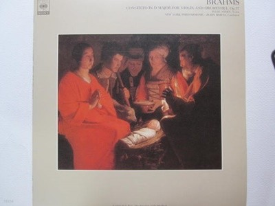 LP(수입) 브람스: 바이올린 협주곡 D장조 - 아이작 스턴 / 주빈 메타