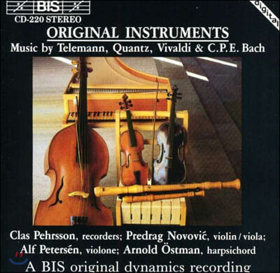Clas Pehrsson 시대악기로 연주하는 바로크 음악 (Original Instruments)