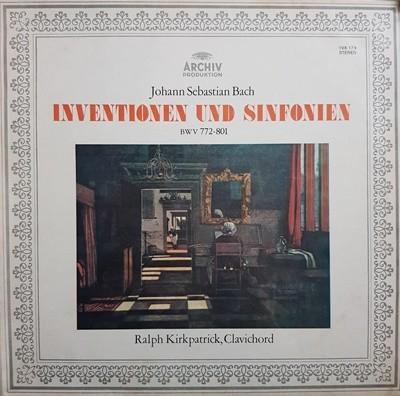 (LP엘피)바흐 : 인벤션과 신포니아 BWV 772-801 - Ralph Kirkpatrik, Clavichord
