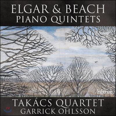 Takacs Quartet 엘가 / 에이미 비치: 피아노 5중주 - 타카치 사중주단, 게릭 올슨 (Elgar / Amy Beach: Piano Quintets)
