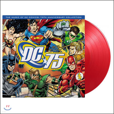 DC코믹스 75주년 기념 음악 모음집 (Music of DC Comics: 75th Anniversary Collection) [레드 컬러 LP]