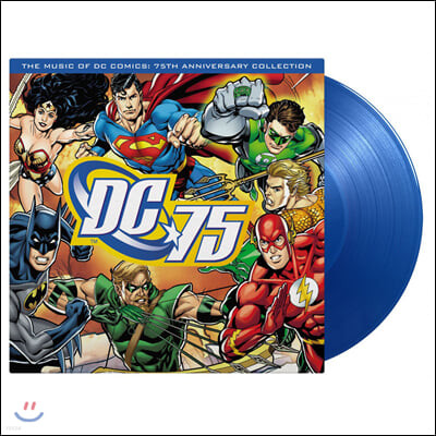 DC코믹스 75주년 기념 음악 모음집 (Music of DC Comics: 75th Anniversary Collection) [블루 컬러 LP]