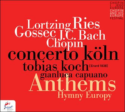 Tobias Koch 로르칭: '폴란드 사람과 아이' 서곡 / J.C.바흐: 건반 협주곡 6번 / 리스: '룰 브리타니아' 변주곡 외 (Anthems Hymn Europe)
