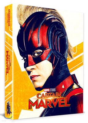 캡틴 마블 풀슬립 A1 (2Disc 4K UHD + 2D 스틸북 한정판) : 블루레이