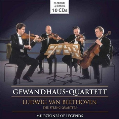 베토벤: 현악 사중주 1 - 16번 전집 (Milestones of Legends - Beethoven: Complete String Quartets Nos.1 - 16) (10CD Boxset) - Gewandhaus Quartett