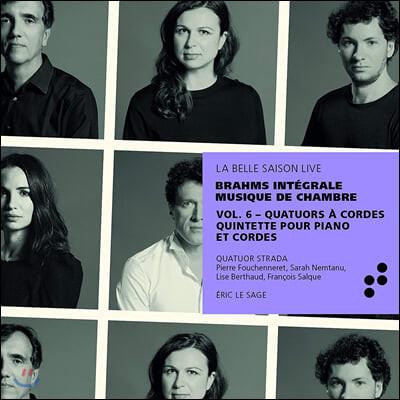 Eric Le Sage 브람스: 현악사중주 전곡, 피아노 5중주 (Brahms Integrale Musique de Chambre Vol.6)