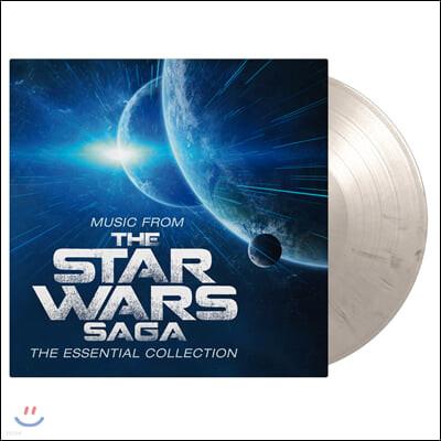 스타워즈 영화음악 베스트 모음집 (Music from the Star Wars Saga - The Essential Collection by John Williams) [화이트 & 블랙 마블 컬러 2LP]