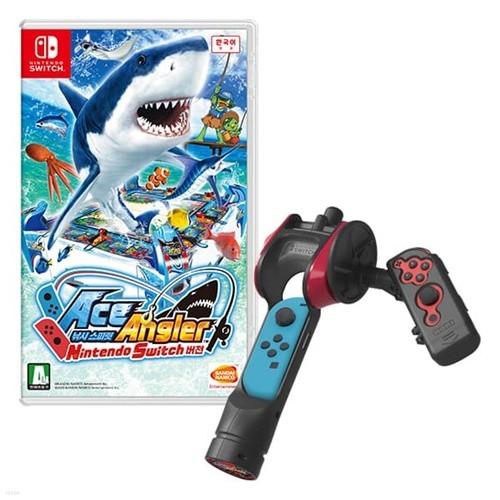 [닌텐도 스위치 주변기기]Ace Angler 낚시 스피릿! + 호리 낚시 스피릿 전용 조이콘 어태치먼트 for Nintendo Switch