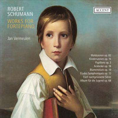 슈만 : 피아노 작품집 - 숲의 정경, 어린이의 정경, 나비, 아라베스크, 꽃 음악 & 교향적 연습곡 외 (Schumann : Works for Fortepiano) (2CD) - Jan Vermeulen