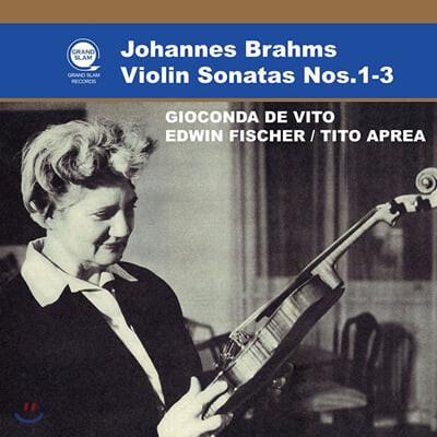 Gioconda De Vito 브람스: 바이올린 소나타 1-3번 (Brahms: Violin Sonatas Nos.1-3)