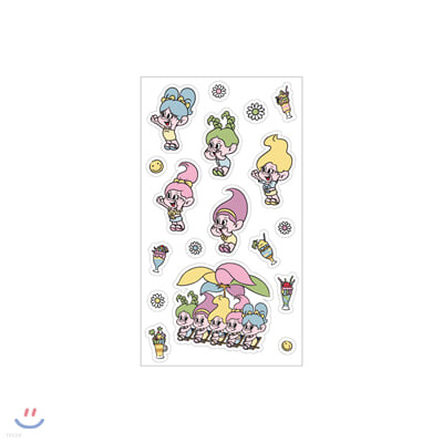 레드벨벳(Red Velvet Loves GOOD LUCK TROLLS) - EPOXY STICKER_A