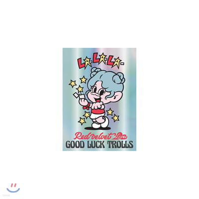 레드벨벳(Red Velvet Loves GOOD LUCK TROLLS) - HOLOGRAM POSTCARD_BLUE