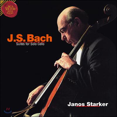 Janos Starker 바흐: 무반주 첼로 모음곡 전곡 - 야노스 슈타커 (Bach: Suites for Solo Cello) [3LP]