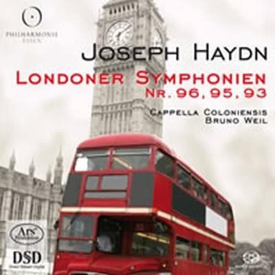 [SACD] Bruno Weil / 하이든 : 런던 교향곡 93, 95 & 96번 (SACD Hybrid+Bonus CD/수입/ARS38061)
