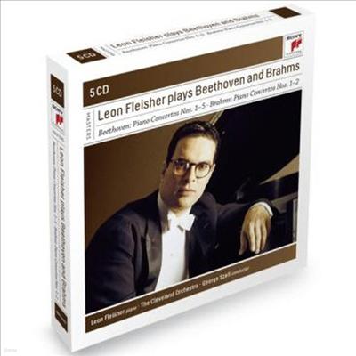 레온 플레이셔가 연주하는 베토벤 & 브람스 피아노 협주곡 (Leon Fleisher Plays Beethoven and Brahms Concertos) (5CD) - Leon Fleisher