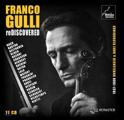 Franco Gulli 다시 발견한 테이프 - 프랑코 굴리의 예술 (Rediscovered: 1957-1999 Unreleased , Rare Recordings) (11CD Box Set)
