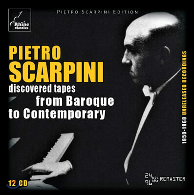 Pietro Scarpini 다시 발견한 테이프 - 바로크에서 현대음악까지 (Pietro Scarpini: Discovered Tapes - From Baroque To Contemporary) (12CD Box Set)