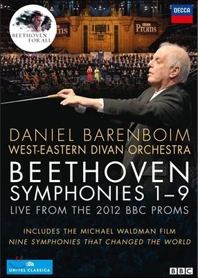 Daniel Barenboim 베토벤 : 교향곡 전곡 (공연실황 & 다큐멘터리) (Beethoven : Symphonies 1~9 Live from the 2012 BBC Proms) 다니엘 바렌보임 & 서동시집 오케스트라