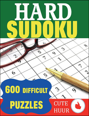 Hard Sudoku: 600 Difficult Puzzles
