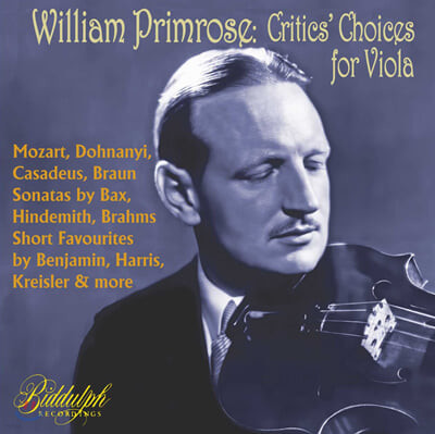 William Primrose 윌리엄 프림로즈 비올라 명연주집 (Critics' Choices for Viola - Selected Collector's recrodings 1938-47)