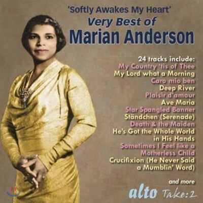 Marian Anderson 마리안 앤더슨 베스트 모음집 (Very Best of Marian Anderson - Softly Awakes My Heart)