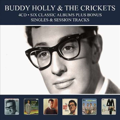 Buddy Holly - Six Classic Albums Plus Bonus Singles & Session Tracks (Remastered)(Digipack)(4CD)