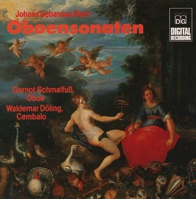 Oboensonaten - Bach /  Gernot Schmalfuß, Waldemar Doling (독일반)