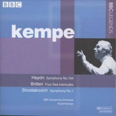 하이든 : 교향곡 104번 '런던', 브리튼 : 4계의 간주곡, 쇼스타코비치 : 교향곡 1번 (Haydn : Symphony No.104 'London', Britten : Four Ssea Interludes Op.33a, Shostakovich : Symphony No.1 Op.10) - Rudolf K