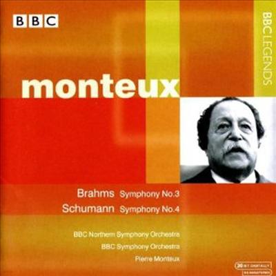 브람스 : 교향곡 3번 & 슈만 : 교향곡 4번 (Brahms : Symphony No.3 Op.90 & Schumann : Symphony No.4 Op.120) - Pierre Monteux