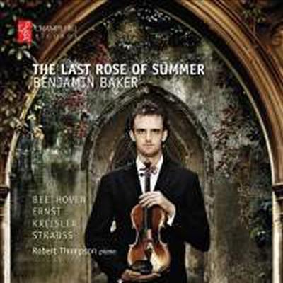 늦여름의 장미꽃 - 베토벤 & R.슈트라우스: 바이올린 소나타 (Last Rose Of Summer - Beethoven & R.Strauss: Violin Sonatas)(CD) - Benjamin Baker